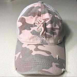 Adjustable Pink Camo Browning Hat